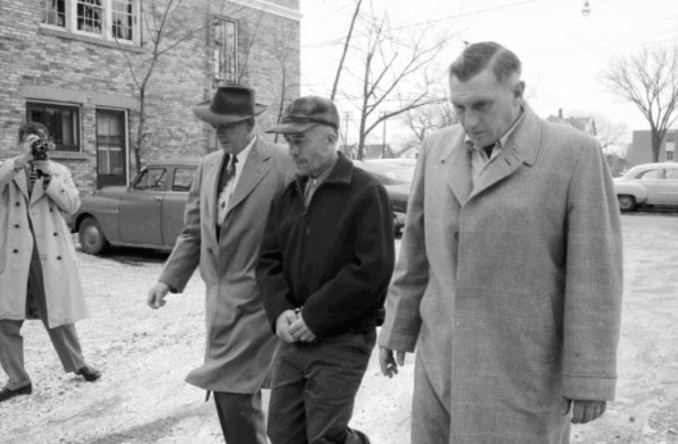 Art Schley (right) and Ed Gein