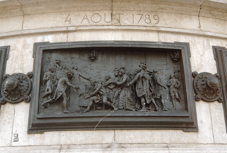Bas relief related to August 4, 1789,